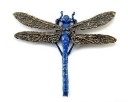 Blue Dragonfly Pendant
