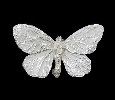 Silver Cabbage White Brooch