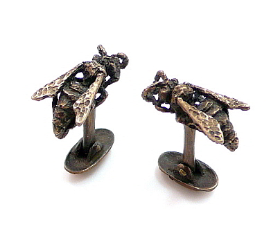 Paper Wasp Cuff Links