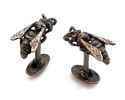 Paper Wasp Cuff Links - Bronze