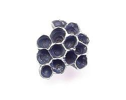 Paper Wasp Nest Lapel Pin - Silver