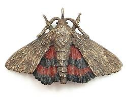 The HEXAPODA Collection - Red Underwing Moth Brooches & Pendants
