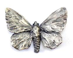 Silver Adonis Butterfly Pendant